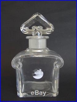 Rare BIG Perfume Bottle Guerlain by BACCARAT Large French Antique Vintage