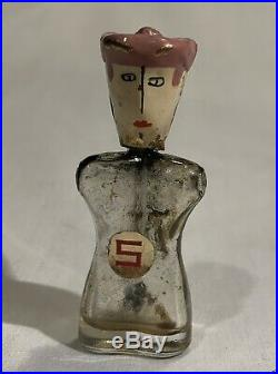 Rare Vintage 1940 Schiaparelli Signed Brooch Perfume Bottle. Lady Is A Scamp