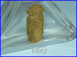 Rare Vintage French Art Deco Baccarat Crystal Commercial Perfume Bottle Pele