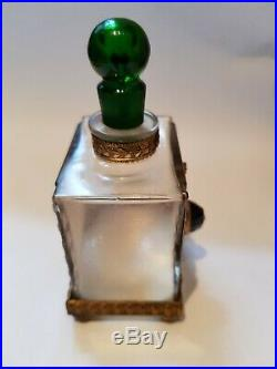 Rare Vintage Julien Viard perfume bottle c1910 Austrian jewelling and enamel