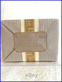 SEALED Vintage DIOR MISS DIOR BACCARAT PERFUME PARFUM Crystal AMPHORA BOTTLE