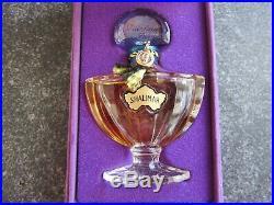 SEALED Vintage Guerlain Paris SHALIMAR ½ fl oz Perfume Bottle PURPLE VELVET BOX