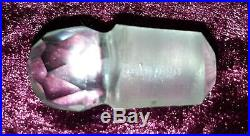 Silver top & clear glass vintage Victorian antique scent perfume bottle