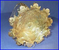 Stylebuilt Ormolu Vintage Perfume Bottle With Dabber 24k Gold Plated Rose