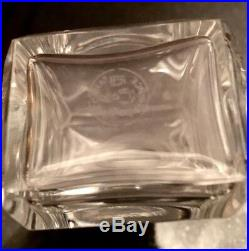 Three (3) Vintage BACCARAT Crystal Perfume Vanity Bottles Signed