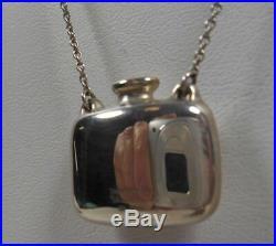 Tiffany & Co Elsa Peretti Perfume Bottle Necklace 25 Sterling Silver Vintage