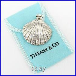 Tiffany & Co Sterling Silver 925 Vintage Sea Shell Perfume Bottle Flask