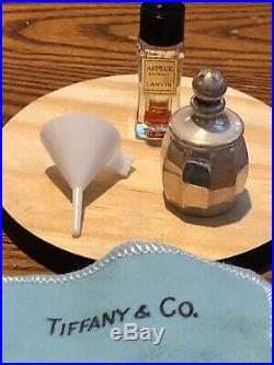 Tiffany & Co. Vintage Sterling Silver Mini Perfume Bottle With Holder