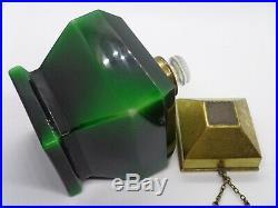 VERY RARE Myon Coeur de Femme Baccarat Perfume Bottle Crystal Guilloche Tag Vtg