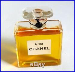 VINTAGE 1940-1951 Chanel No. 22 PARFUM Factice Dummy Display Bottle 2oz
