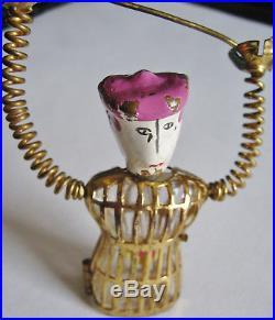 VINTAGE 1940 ELSA SCHIAPARELLI SHOCKING SCAMP PERFUME PIN FENCING BROOCHw BOTTLE