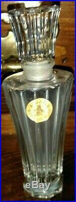 VINTAGE GUERLAIN ATUANA PARIS, Baccarat PERFUME BOTTLE 7 Original label Crystal
