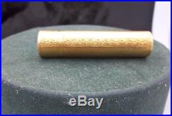 VINTAGE RARE marked K18 GOLD Perfume Cylinder Bottle 18.2 GRAMS
