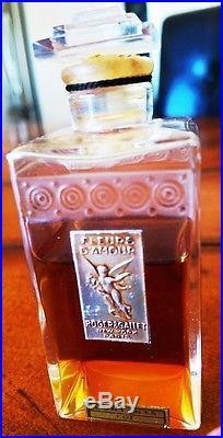 Vintage Rogers & Gallet 1 Oz Fleurs D Amour Unopen Baccarat Perfume Bottle, & Box