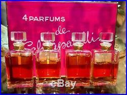 VINTAGE SET by SCHIAPARELLI 4 SEALED BOTTLES OF 5 ML RARE PERFUME SET
