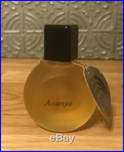 VTG 1990s The Body Shop ANANYA Perfume Oil 30ml ORIG Frosted Bottle Black Cap