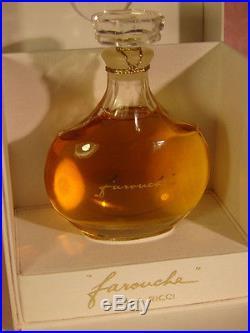 VTG. FAROUCHE PARFUM Pure Perfume NINA RICCI 1 Oz 30ml LALIQUE Bottle NIB