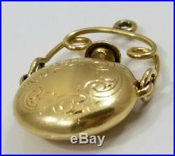 Vintage 14K Gold 3D PERFUME BOTTLE CHARM