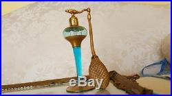 Vintage 1920's Volupte Perfume Bottle Atomizer Blue & 22 kt gold paint devilbiss