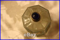 Vintage 1920s J. Viard France Golden Swallows octagonal Perfume Bottle rare