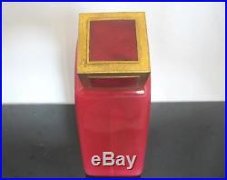 Vintage 20's BACCARAT for Ybry Ruby Crystal LARGE Perfume Bottle DESIR du COEUR