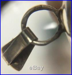 Vintage. 925 Sterling Silver Amber Perfume Decanter Flask Pendant Bottle Dauber