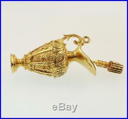 Vintage 9Carat Yellow Gold Perfume Bottle Pendant / Charm (31x19mm)