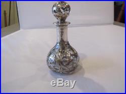 Vintage Alvin Fine Sterling. 999/1000 Overlay 4 1/2 Perfume Scent Bottle