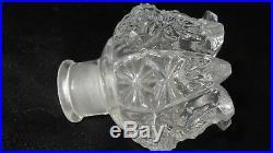 Vintage Antique Czech Czechoslovakia Clear Glass Perfume Bottle