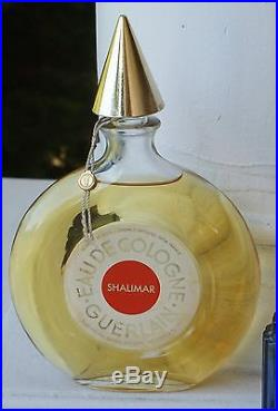 Vintage Antique Large Guerlain Eue De Cologne Shalimar Bottle Perfume 6 Oz