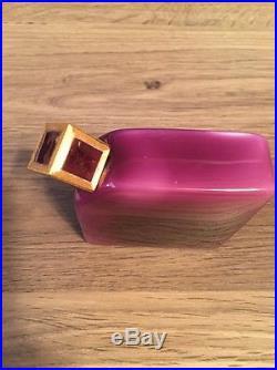 Vintage Antique YBRY Paris Parfums Perfume Bottle Purple Glass Original Box