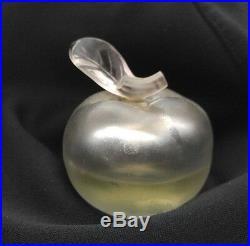 Vintage Apple Perfume Bottle Signed NINA RICCI & Lalique 50% full