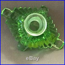 Vintage Art Deco Perfume Bottle Signed Czechoslovakia Genuine Handcut Crystal