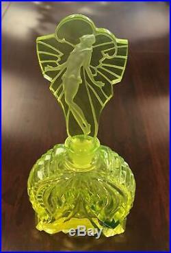 Vintage Art Deco Signed Pesnicak Perfume Bottle Czech Republic 6