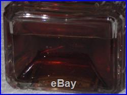 Vintage Caron Bellodgia Perfume Bottle Baccarat 3 OZ Open 3/4 Full 3 3/4