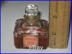 Vintage Caron Bellodgia Perfume Bottle/Box Baccarat 1 OZ Sealed 2/3 Full