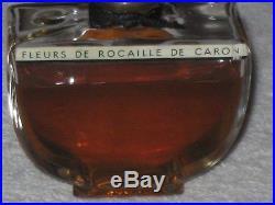 Vintage Caron Fleurs de Rocaille Baccarat Style Perfume Bottle/Box 2 OZ Open
