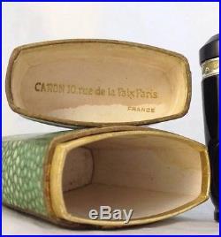 Vintage Caron Nuit de Noel Perfume Baccarat Glass Bottle Boxes 1.09 OZ Full