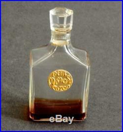 Vintage Caron Petit Mimosa Perfume Bottle w a Few Drops Remaining circa 1917