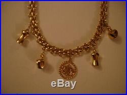 Vintage Christian Dior Charm Necklace Logo Medallion, Perfume Bottle, Dress Form