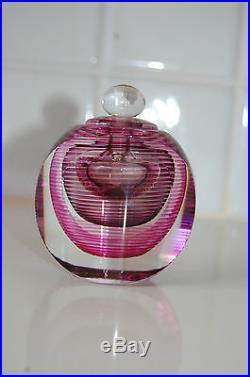 Vintage Collectible Michael David Kit Karbler Art Glass Perfume Bottles