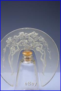 Vintage Commercial Perfume Art Deco Bottle after Lalique Nudes D'Orsay France