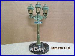Vintage Corday 3 Perfume Bottle/Ashtray Paris Street Lamp Rue De La Paix