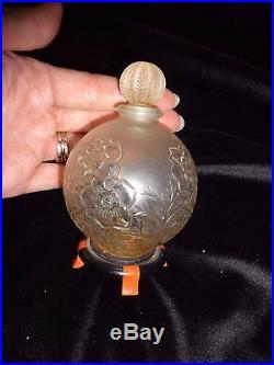 Vintage Coty A Suma Empty Perfume Bottle on Stand (pb173) RARE