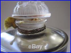 Vintage Coty Chypre De Coty Perfume Lalique Signed Bottle 1 oz 30 ml