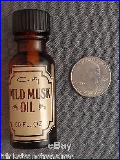 Vintage Coty Wild Musk Oil Perfume Formula 5016 Pfizer. 50 Oz Amber Bottle FULL