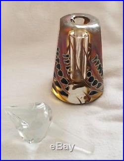 Vintage Craig Zweifel 1983 Art Glass Iridescent Perfume Bottle