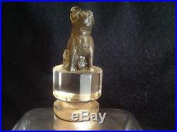 Vintage Cristal Nancy Toujours Fidele D'orsay Perfume Bottle Bulldog Stopper