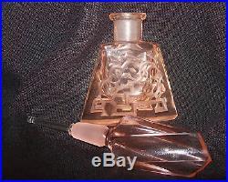 Vintage Czech Perfume BottleDauber IntactSigned4.5 TallA Collector's Dream