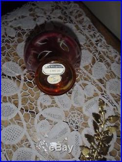Vintage Devilbiss Pink Jeweled Rhinestone Feather Top Perfume Bottle Atomizer